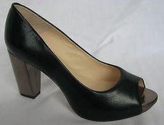 BNIB Clarks Mary Portas La Peep Black Leather Peep Toe Shoes | eBay