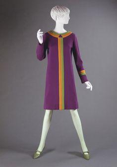 Dress Rudi Gernreich, 1965 The Philadelphia Museum of Art 60 Fashion, Fashion History, Fashion Models, Vintage Fashion, Fashion Design, Decades Fashion, Sixties Fashion, Vintage Dresses, Vintage Outfits