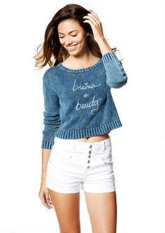 Mineral Wash Pullover - Tops - Clothes - dELiA*s