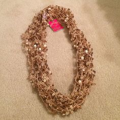 Nwt Candie'S Gold Sparkle Infinity Scarf