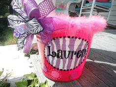 monogrammed hand painted bucketwine bucket gift by dillydAllie