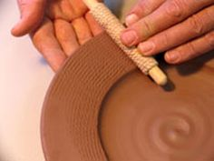 Roped rollers (dowls) for texture (Vangilderpottery)