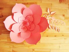 Large Paper Flower Coral - READY TO SHIP | Paper Flowers | Paper Flower Decor | Flower Wall Decor | Baby Nursery Decor | Flower Home Decor $27.00 CAD