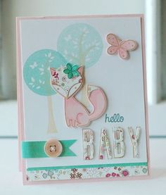 Hello Baby Card by Betsy Veldman for Papertrey Ink (March 2013)