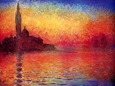 Monet - Tramonto a Venezia