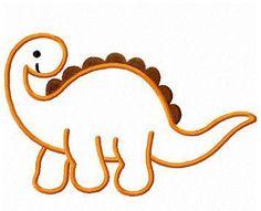 dinosaur applique machine embroidery design by FunStitch on Etsy, $4.00