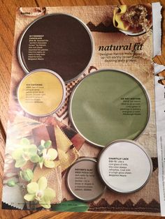 Earthy Browns and Leafy Greens