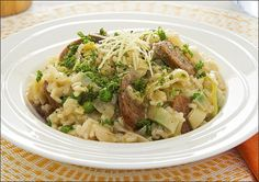 Leek and Sausage Risotto recipe - Easy Countdown Recipes Quick Risotto Recipe, Sausage Risotto Recipe, Risotto Recipes, Chorizo Sausage, Yummy Rice Dishes, Healthy Recipes, Rice Recipes, Healthy Food