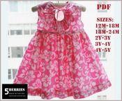 key-hole girls dress pattern, sewing patterns, girls, baby, toddler, valentines day, 5berriessewingpatterns.com