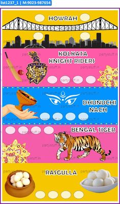 Bengal Anywhere 3 in theme Bengal as Designer Kukuba under product group Kukuba. Kitty Party Games, Kitty Games, Cat Party, Party Props, Party Themes, Tambola Game, Bengali Culture, Paper Games, Color Card