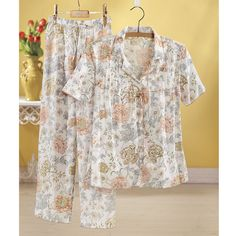 Floral Print Pajama Set - Women's Clothing, Jewelry, Fashion Accessories and Gifts for Women with a Flair of the Outdoors | NorthStyle