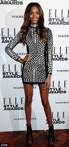 Jennifer Lopez and Jourdan Dunn both rock the same sexy Tom Ford dress, Jennifer Lopez, Tom Ford Dress, Unusual Dresses, Elle Style Awards, Jourdan Dunn, Floral Gown, Celebrity Outfits, Black Models, Runway Models
