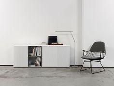 A'dammer roll-top storage by Aldo van den Nieuwelaar for Pastoe