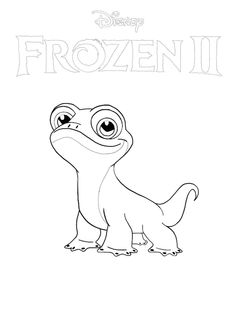 Bruni from Frozen 2 coloring page in 2020 | Disney ...