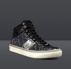 cb441866a5cb Mens Jimmy Choo - -Belgravia Leopard High-Top Sneaker High Top Sneakers