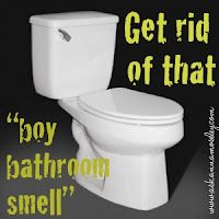 "Cleaning - How to get rid of that ""Boy Bathroom Smell"""