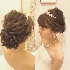 """335 Likes, 4 Comments - Hitomi Homma Wedding Hair Make (@hitomimakeup) on Instagram: """"ウェーブでなく毛の引き出し方で立体感を作るのでラフでこなれた感じに…"""""""