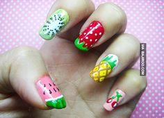 fruit nail art Amazing fruit nail art (28 Photos)
