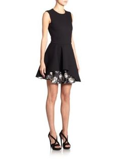 Alexander Mcqueen Layered Fit Flare Dress   Clothing