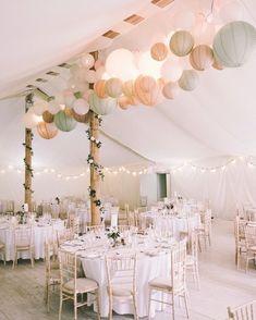 Ideas backyard wedding tent decorations paper lanterns - All For Garden Wedding Tent Decorations, Wedding Themes, Wedding Venues, Wedding Ceremony, Tent Wedding, Wedding Table, Destination Wedding, Weding Decoration, Wedding Tent Lighting