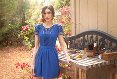 ~ Lace for Romance Dress ~    ♥ ~Romantic Lace Vintage Inspired Dress in Blue ~ ♥    Item Description  ♥ For the love of fun, romantic, feminine, and