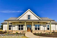 House Plan Comes to Life in Georgia! - photos of house plan Ranch House Plans, Dream House Plans, Small House Plans, House Floor Plans, Retirement House Plans, Metal Building Homes, Building A House, Building Ideas, Building Plans