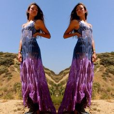 LOVE Vintage One of A Kind Crochet Bohemian Hand Dyed by Vdingy, $245.00