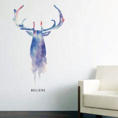 Watercolour Stag Wall Sticker