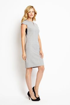 Hudson Work Dress in Heather Grey, Front View