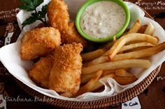 Halibut Fish and Chips - panko is the secret to extra crispy and delicious fish and the best tartar sauce ever!