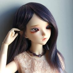 Minifee fairyland mnf wig dark purple mix violet navy blue no