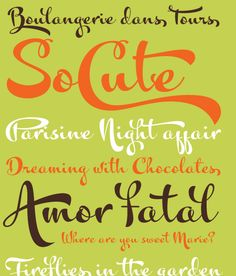 Kewl Script typography - curvy but unfussy, contemporary