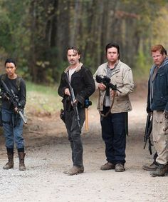 The Walking Dead Season 6 Episode 16 'Last Day On Earth' Rick Grimes, Abraham Ford, Sasha and Eugene Porter