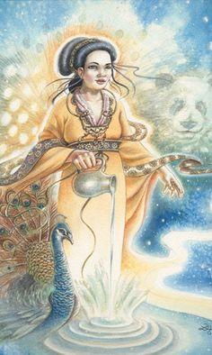 Animals Divine Tarot: Gallery: Major Arcana: The Star
