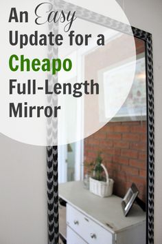 An idea to update your cheap plastic-framed mirrors and give them a little style!