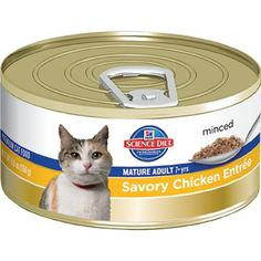 HIGH CARB ONLY as an emergency when cat's BG's are super-low.  Regularly check BG after to track progress.   I use a black marker and label HC on it so my cat isn't accidentally served this.   Hill`s Science Diet Mature Adult Active Longevity Savory Chicken Entree Minced