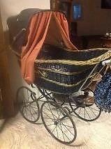 antieke staphorster kinderwagen