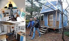 The ultimate downsizers: Couple give up their home to live the simple life in tiny $19,000 retirement house on wheels