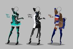 Outfit design - 248 - 250 - openby LotusLumino | Outfit design - 248 - 250 - open by LotusLumino on DeviantArt