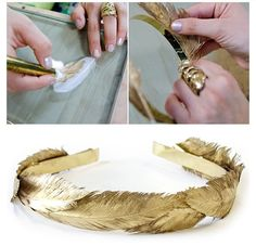 Gold DIY Head Gear❤