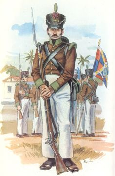 Portuguese Soldier of the Prince's Royal Volunteers Division in Brasil - Montevideo Campaign 1815