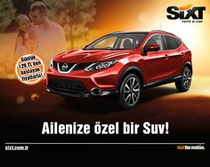 Ailenize özel bir Suv; Nissan Qashqai! Detaylı bilgi için; http://sixt.com.tr/ #Sixt #Sixtrentacar #Nissan #NissanQashqai #NissanTürkiye #rentacar #araçkiralama #fırsat #kampanya #aile #family