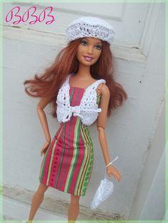 Barbie Clothes  Strapless Dress & Crochet by BarbieBoutiqueBasics, $15.00