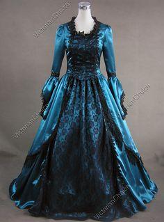 Victorian Blue Dresses