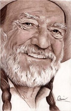 That's what has made me more unhappy than everything else. Celebrity Drawings, Celebrity Portraits, Country Music Singers, Country Artists, Texas Music, Cowboy Art, Ranger, Willie Nelson, Color Pencil Art