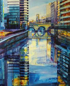 The River Irwell Manchester UK   Archival Print Size by kateboyce