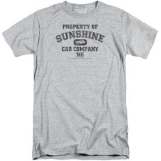 TAXI/PROPERTY OF SUNSHINE CAB-S/S ADULT TALL-ATHLETIC HEATHER