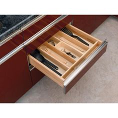 cut to fit: Rev-A-Shelf Large Wood Cabinet Drawer Utility Tray Insert-4WUT-3SH - The Home Depot