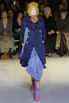 Spring 2008 Ready-to-Wear Collection | Peacoat with many layers attached (including the gingham)