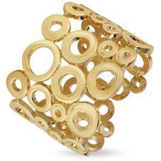 AZ Collection Gold Plated Cuff Bracelet ❤ liked on Polyvore